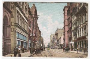 King Street Toronto Ontario Canada 1905 postcard
