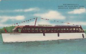 BROCKVILLE , Ontario , 1930s ; 1000 Island Tour Boat MISS BROCKVILLE V
