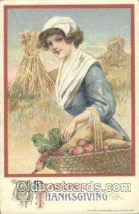 Artist Schmucker Thanksgiving Greeting 1911 wear left bottom corner, light we...