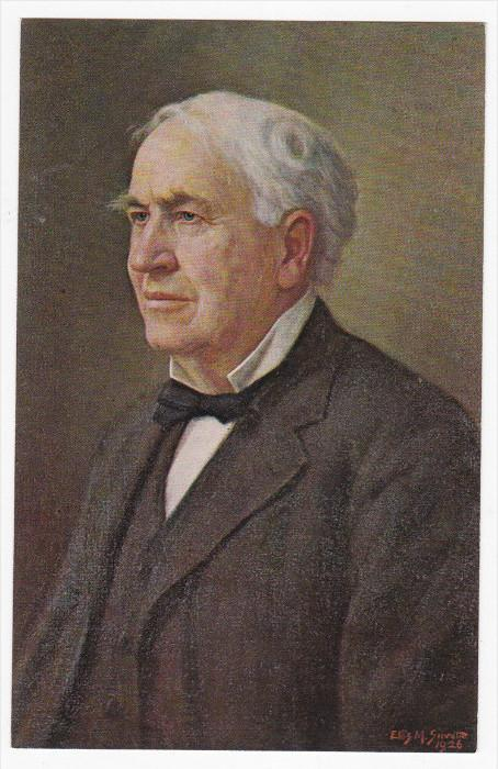 AS: Ellis M. Silvette, Portrait of Thomas A. Edison in 1926, 40-60s