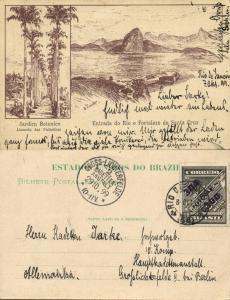 brazil, RIO DE JANEIRO, Entrada e Fortaleza de Santa Cruz, Jardim Botanico 1899