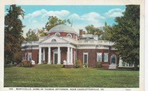 CHARLOTTESVILLE, Virginia , 1910s; Monticello, Home of Thomas Jefferson