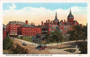Johns Hopkins Hospital, North Broadway, Baltimore, MD., Early Postcard, Unused