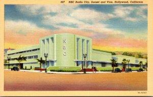 California Hollywood NBC Radio City Sunset and Vine Curteich