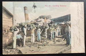 1906 Kingston Jamaica Picture Postcard Cover To Boston MA USA Loading Bananas