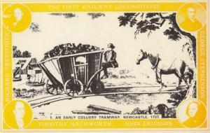 Timothy Hackworth John Ericcson 1700s Newcastle Tramway Train Postcard