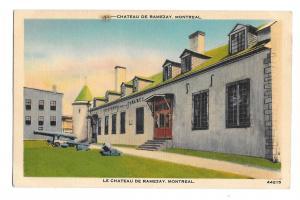 Chateau De Ramezay Montreal Canada Vintage Metropolitan Linen Postcard