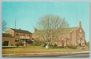 Seaford Delaware~Our Lady Of Lourdes RC Church~Standard Chrome Postcard
