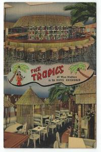 Chicago, Illinois,  Views of Tropics Cocktail Lounge in Hotel Chicagoan, 1942