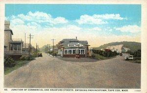 Socony Gas Station Entering Provincetown MA Postcard