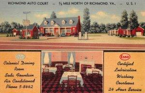 LPS54 Richmond Virginia Richmond Auto Court Postcard Views