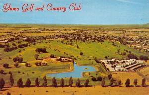 Yuma Arizona~Yuma Golf & Country Club~Birdseye Panorama~1960s Postcard