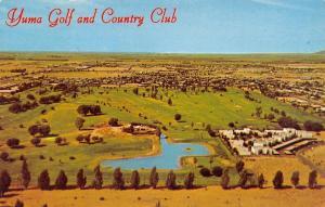 Yuma Arizona~Yuma Golf & Country Club~Birdseye Panorama~1960s Postcard