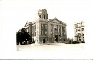 Vtg Postal RPPC 1940s - Monroe County Palacio de Justicia - Woodfield Ohio ¡ Oh