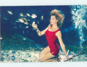 Pre-1980 Risque WEEKI WACHEE GIRL Near Tampa Florida FL hn5394
