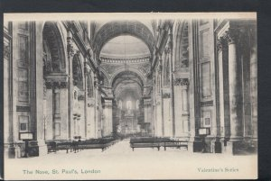 London Postcard - The Nave, St Paul's Cathedral     T4842