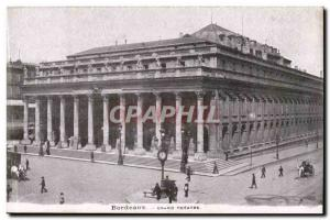 Bordeaux - Grand Theater - Old Postcard