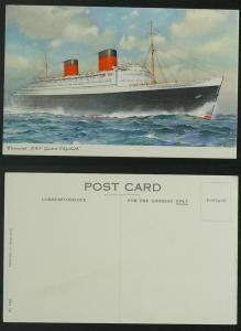 Cunard RMS Queen Elizabeth c 1940s or 50s