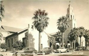 Autos Phoenix Arizona Presbyterian Church 1940s RPPC Photo Postcard 4899