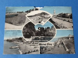 Vintage Postcard, NINE VIEW Mechanical, Greetings from HERNE BAY Kent AH0