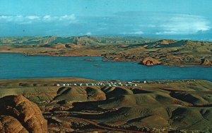 Lake Powell, Utah, UT, Halls Crossing, Marina, Chrome Vintage Postcard g9272
