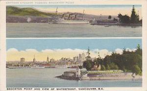 Empress Steamer pasing Brockton Point, Brockton Point & View of Waterfront, V...