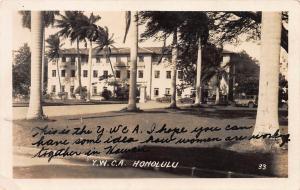 Y.W.C.A., Honolulu, Hawaii, Early Real Photo Postcard