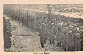 GEFANGENE RUSSEN-RUSSIAN PRISONERS-1915 GERMAN WW1 GEBR. SCHMID PHOTO POSTCARD