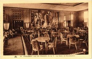 CPA Paquebot ILE-DE-FRANCE Le Salon de Conversation SHIPS (704043)