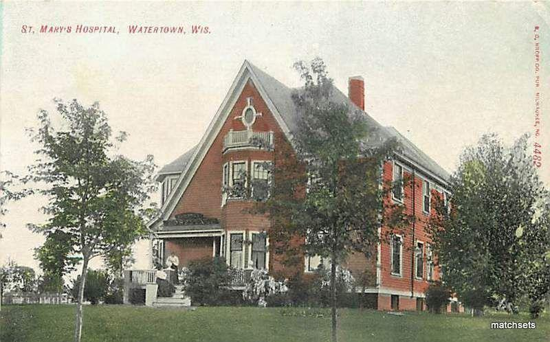 WARTERTOWN, WISCONSIN St. Mary's Hospital EC Kropp 2236 postcard