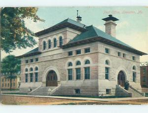 Divided Back POST OFFICE SCENE Lewiston Maine ME hs1860