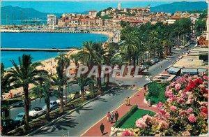 Modern Postcard Cannes Croisette Mont Chevalier