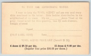 St Paul Minnesota~Chester Kent Inc Vinol Agency Sales Order~Prices~1929 Postsl