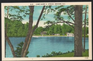 North Carolina postcard Camp harry H. Straus, Brevard, N.C. unused