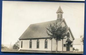 Richmond Maine me Catholic Church real photo postcard RPPC #1