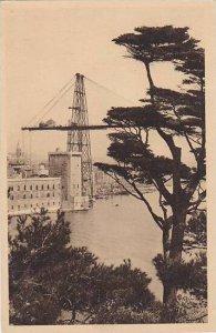France Marseilles Vue sur l'entree du vieux Port et le Pont Transbordeur