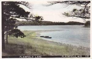 Wisconsin Plainfield Plainfield Lake 1950 Real Photo RPPC