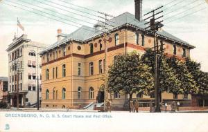 Greensboro North Carolina US Courthouse post office by Tuck antique pc Z13463