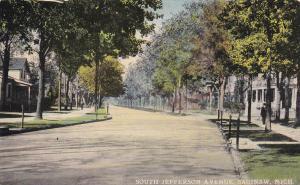 SAGINAW, Michigan, PU-1912; South Jefferson Avenue