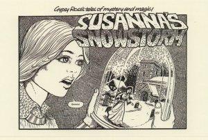 Gypsy Romany 1970s Snow Globe In A Jar Mystery Magic Postcard