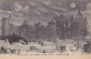Le Chateau Au Clair De Lune, Facade Sud-Ouest, Vitre (Ille et Vilaine), Franc...