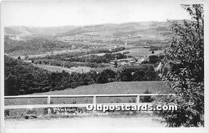 Old Vintage Shaker Post Card A View from Big Bend State Road, Real Photo Moun...