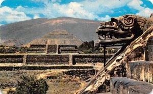 Panoramica Zona Arqueologica de San Juan Teotihuacan Mexico Tarjeta Postal 19...
