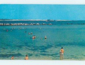 Pre-1980 BEACH SCENE Panama City Beach Florida FL AE9135