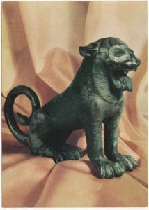 Postcard: Etruscan bronze lion, About 500 B.C.