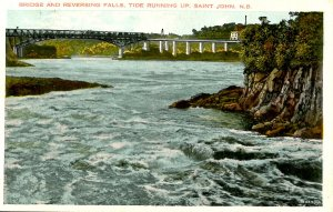 Canada - New Brunswick. St. John, Bridge & Reversing Falls
