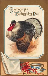 Greetings For Thanksgiving Day Artist Ellen Clapsaddle Postcard