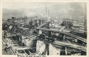 ROMANIA mining industry Resita 1930s factory general view photo postcard