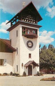 Frankenmuth MI~Bavarian Inn~Glockenspiel Clock Tower~Rooster Weathervane