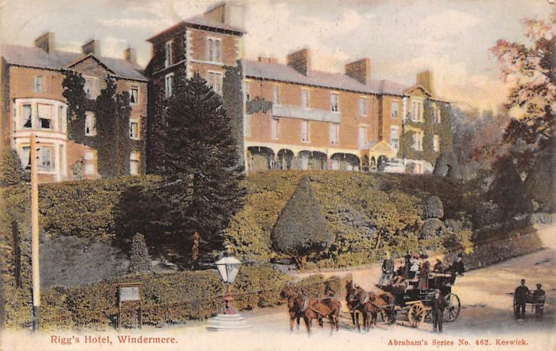 Windermere Rigg's Hotel Horses Carriage, Abraham's Series 1907
